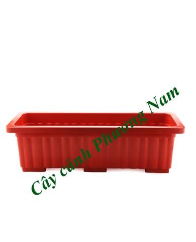 Chậu nhựa dài 63 x 22 cm (đỏ)