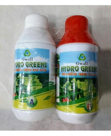 Dung dịch thủy canh Gwall Hydrogreen (bộ 0,5 lit)
